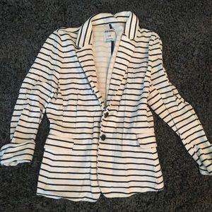 Old navy white & navy blue striped blazer in large